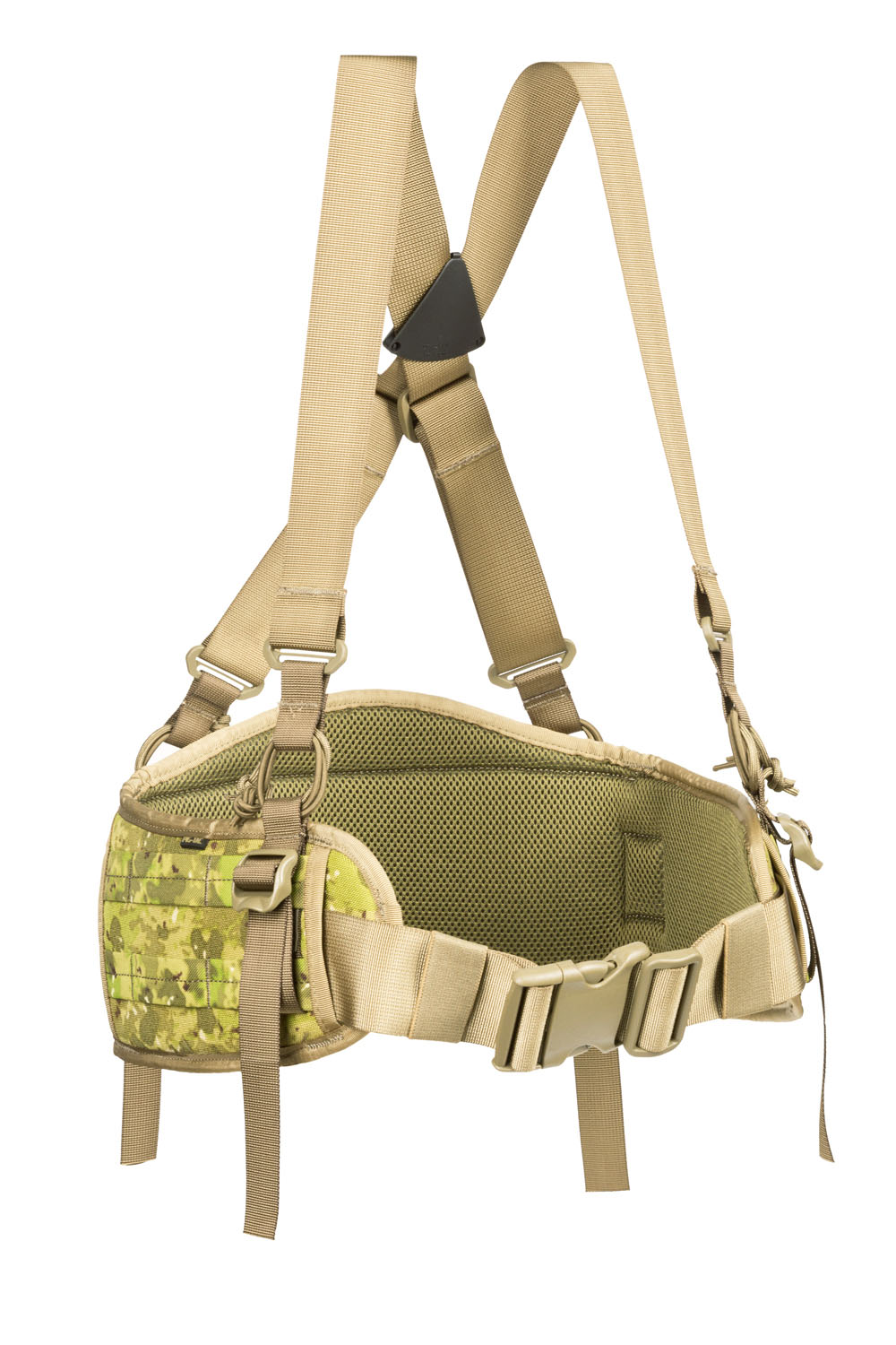Padded MOLLE belt with suspenders