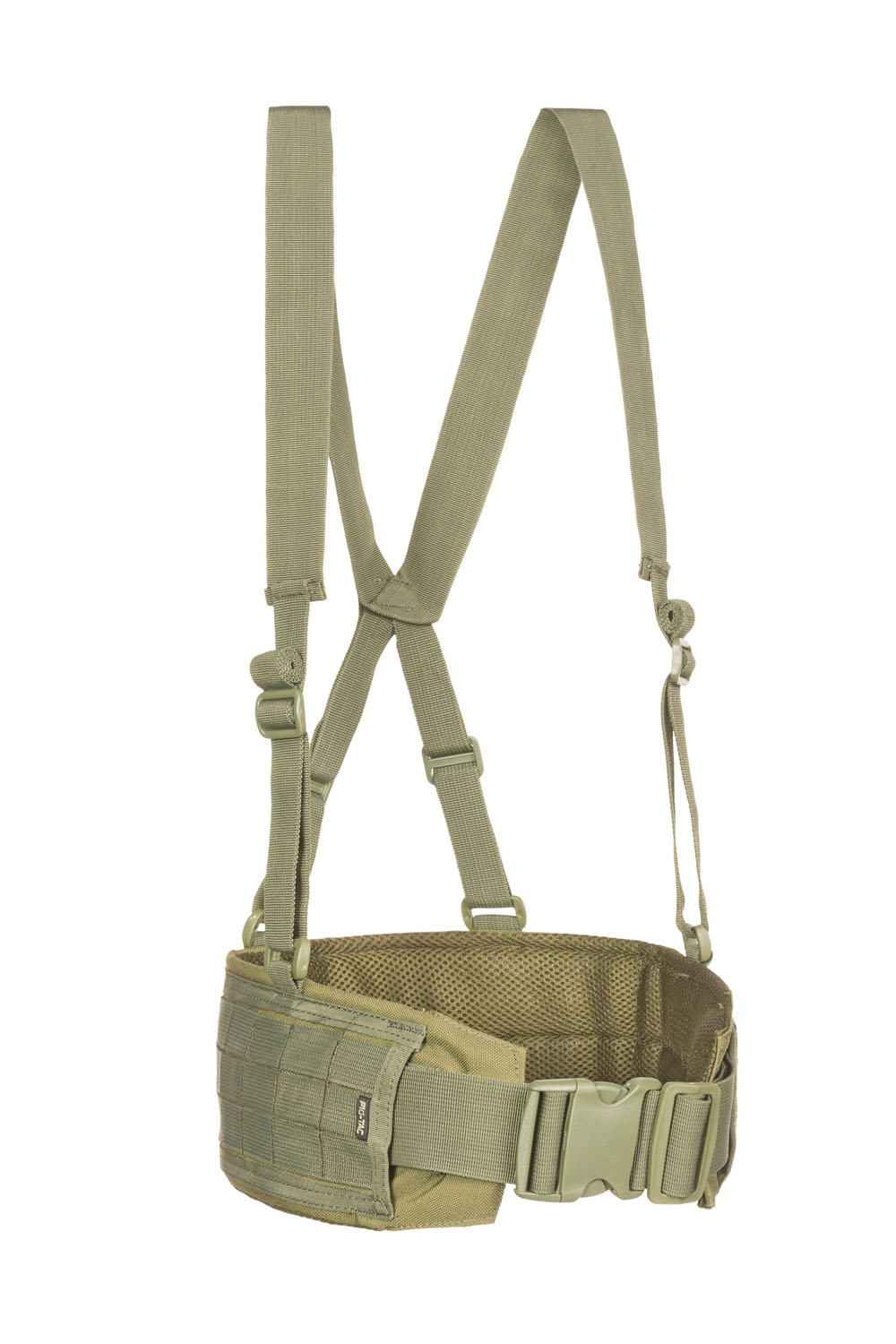 MOLLE belt with suspenders