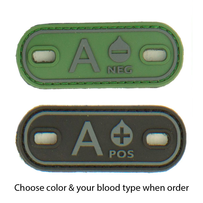 P1GTac Blood Type Multi-Position PVC Marker (2-Pack)