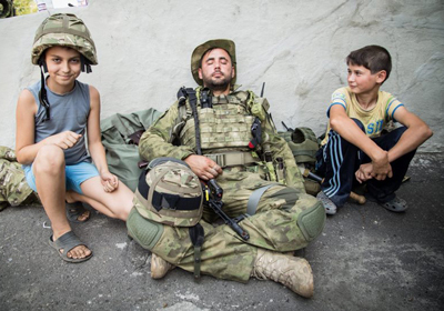 Soldier from Volunteer Battalion Kiev-2 in outfit from P1G-Tac®