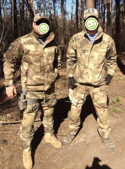 Soldiers volunteer battalion of the Armed Forces of Ukraine in the field suits Mabuta-Mk-2 on P1G-Tac®